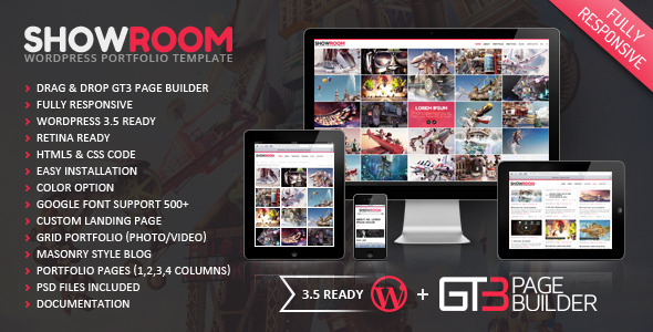 ThemeForest Showroom Portfolio Retina Ready WP Theme 3473628
