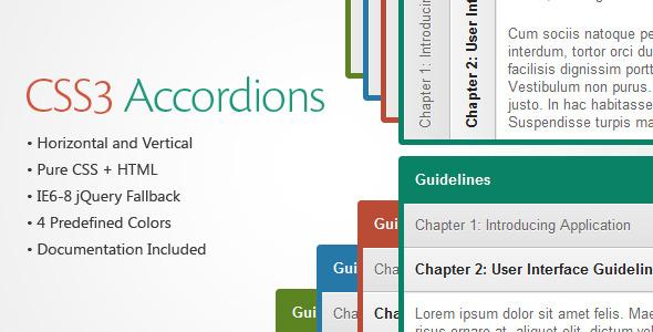 CodeCanyon CSS3 Accordions 372441
