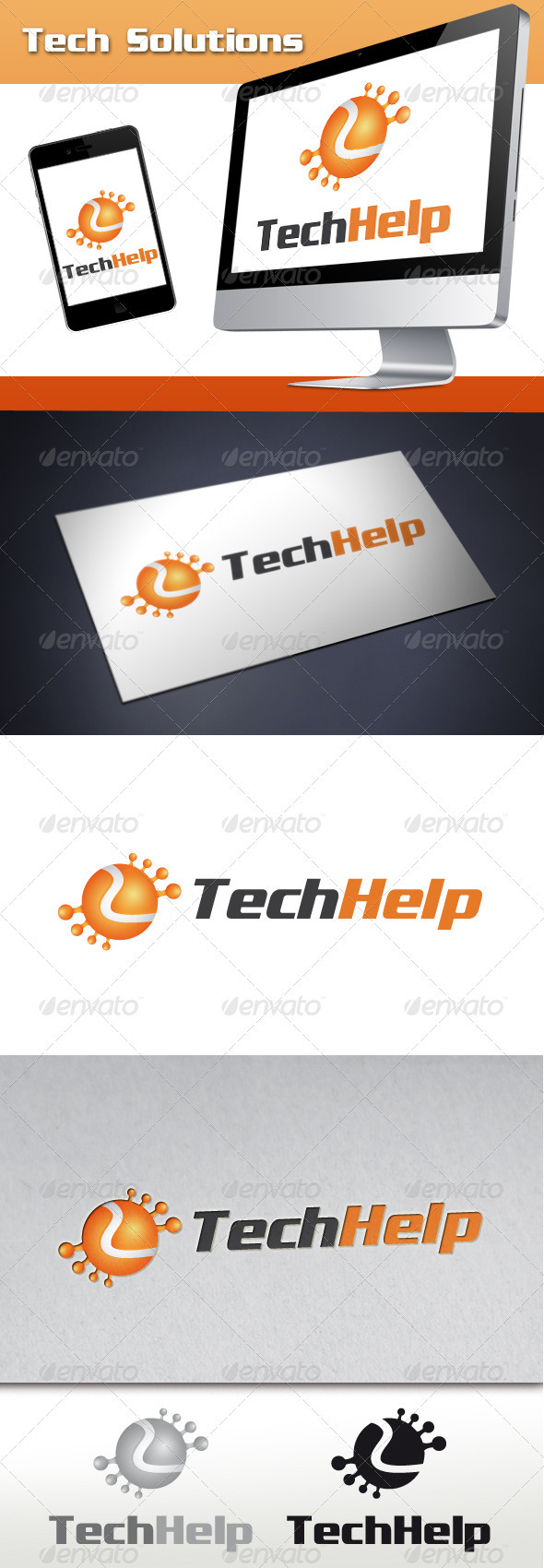 GraphicRiver Tech Solutions Logo 3473802