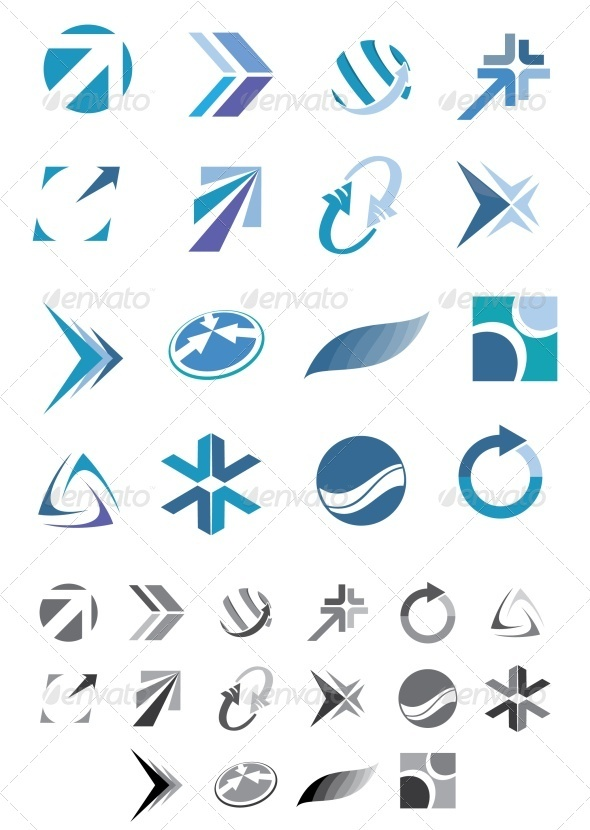 GraphicRiver Abstract icons 3474422