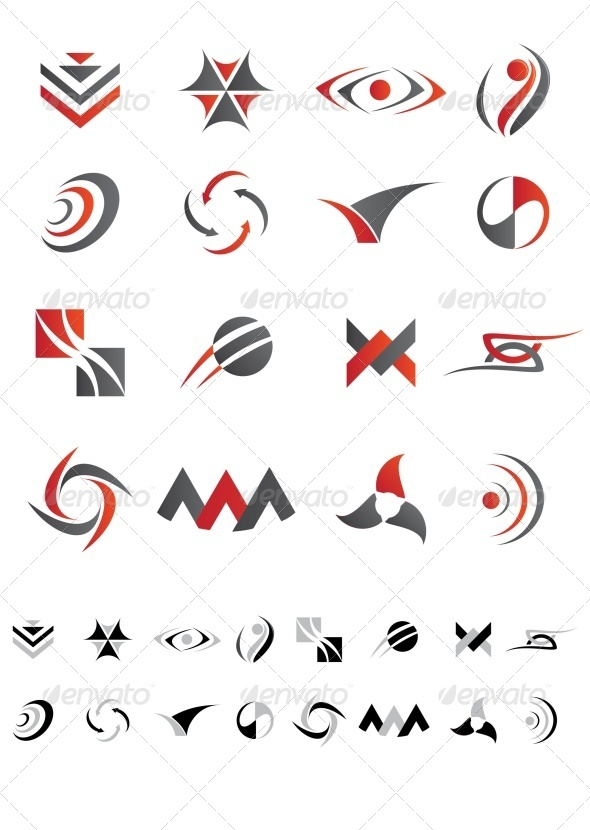 GraphicRiver Abstract Icons Set 3474806