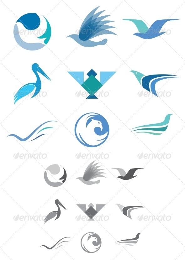 GraphicRiver Abstract Bird Icons 3474860