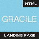 Gracile - Super Clean Landing Page - ThemeForest Item for Sale
