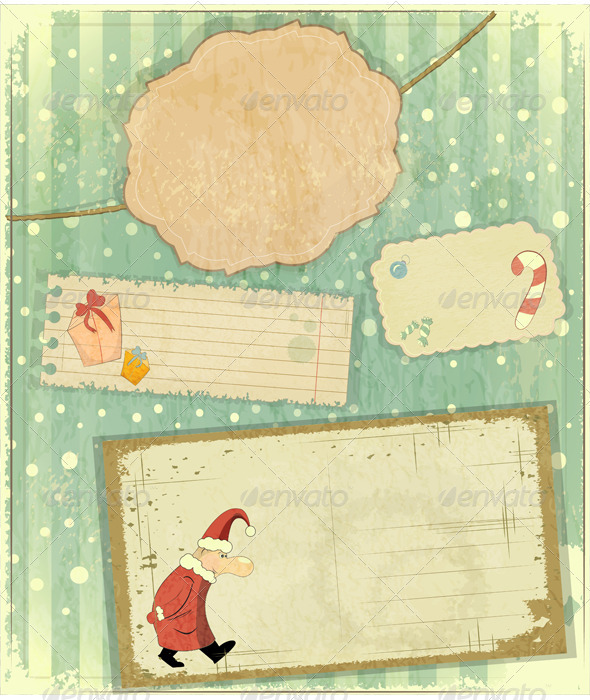 GraphicRiver Set of Christmas Cards 3474975