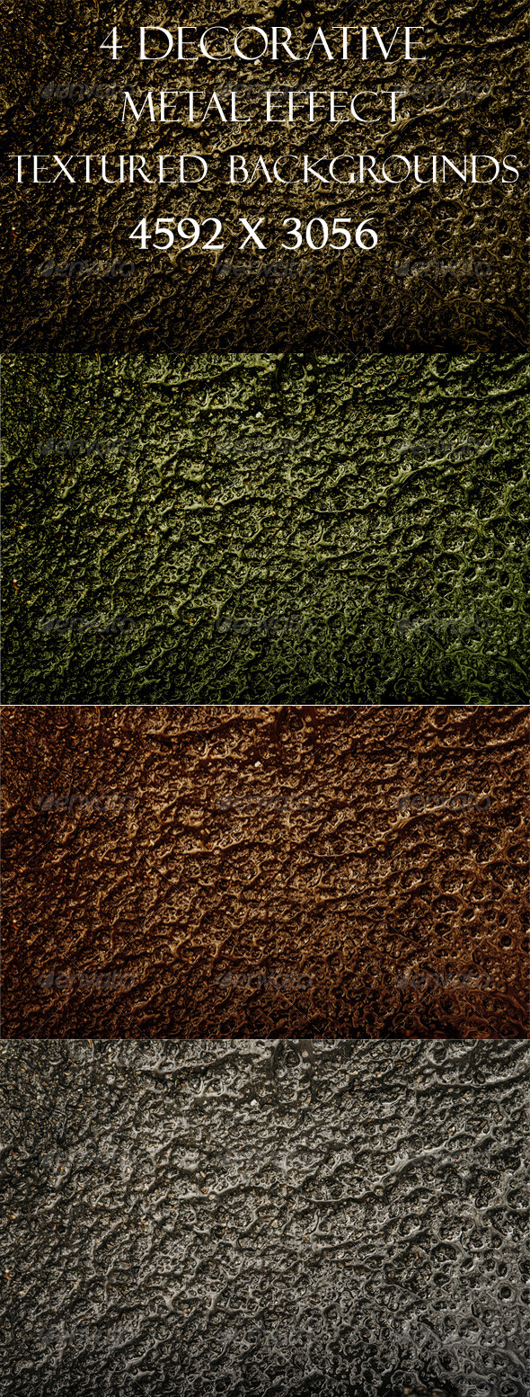 GraphicRiver 4 Decorative Textured backgrounds Molten Metal 3454778