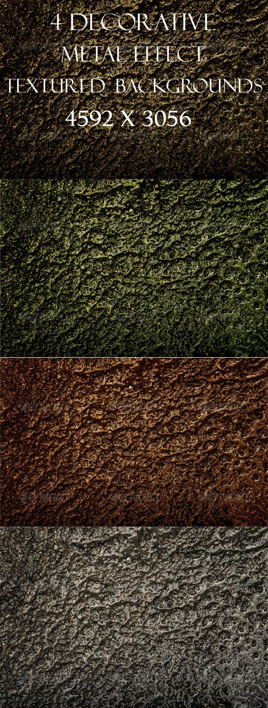 GraphicRiver 4 Decorative Textured backgrounds Molten Metal 3454778