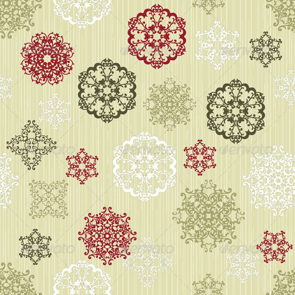 GraphicRiver Vector Seamless Pattern with Paper Cut Snowflakes 3475167
