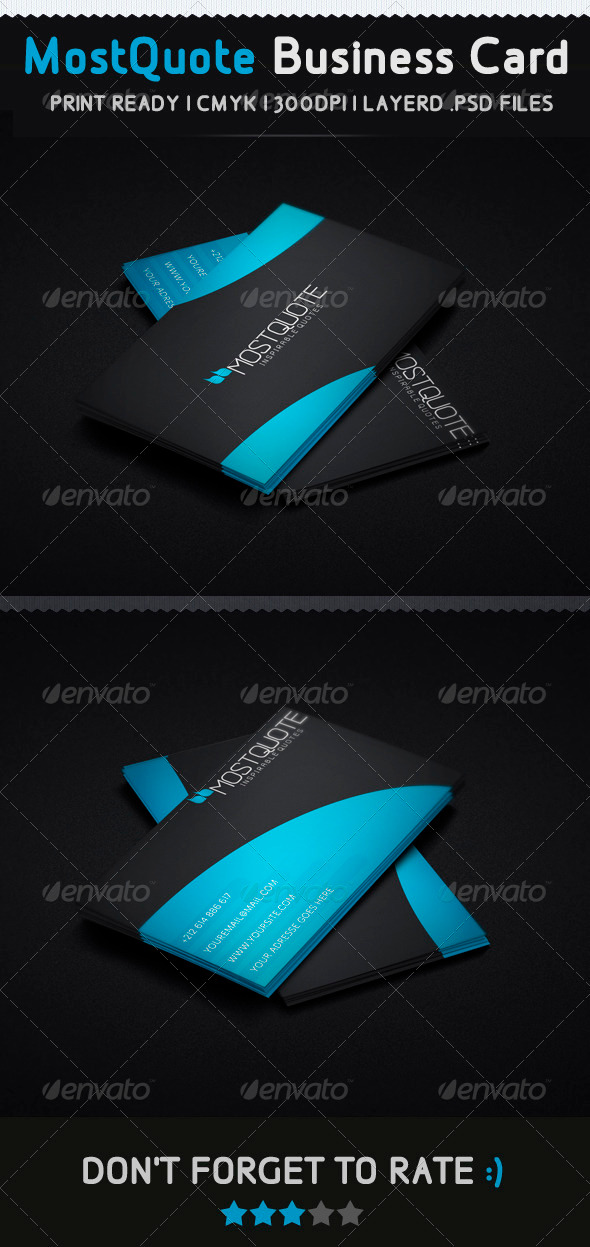 GraphicRiver Mostquote Creative Business Card 3475369