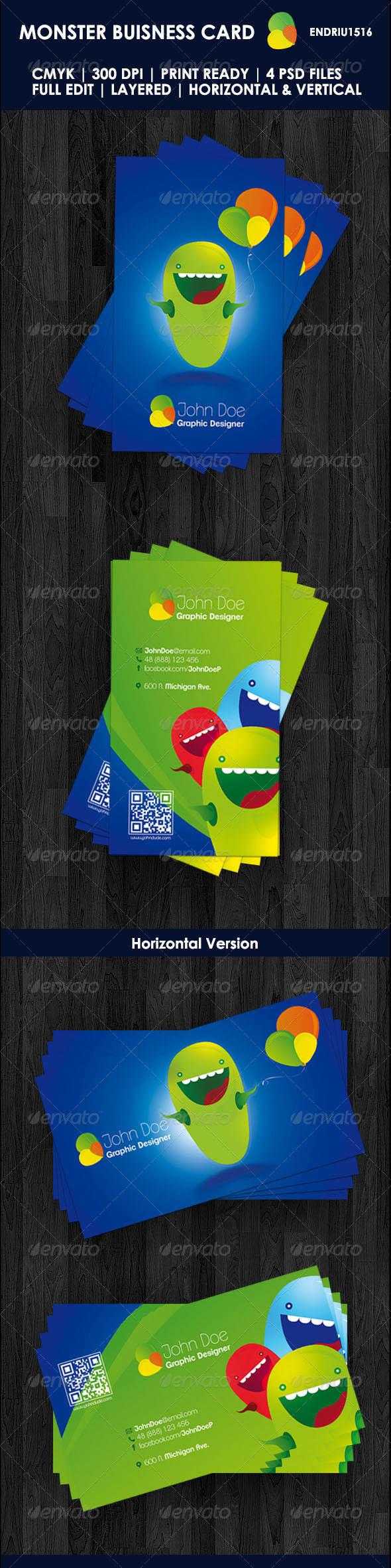 GraphicRiver Monster Buisness Card 3457159