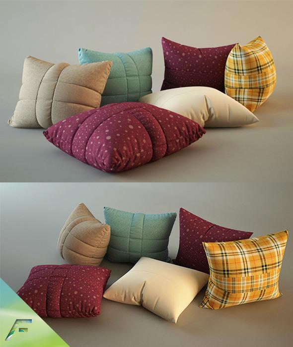 3DOcean Pillows realistic 3475817
