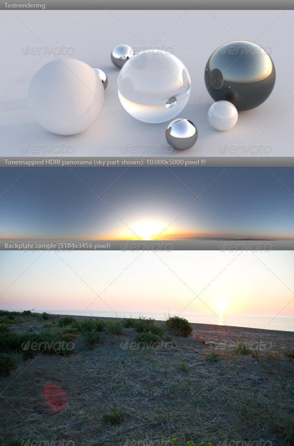3DOcean HDRI spherical panorama 0625- dawn sunrise 310358
