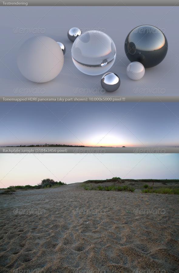 3DOcean HDRI spherical panorama 0600- summer dawn sunrise 309960