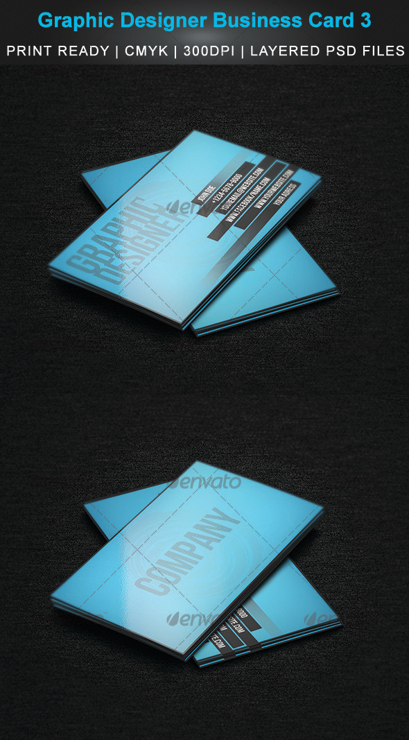 GraphicRiver Graphic Designer Business Card 3 3475975