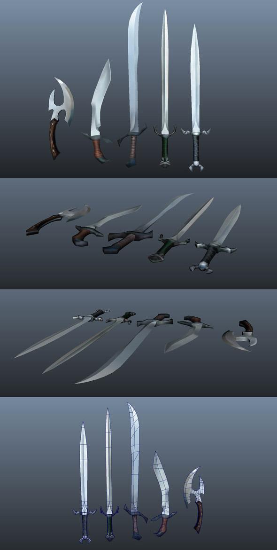 3DOcean Fantasy Weapons 3476175