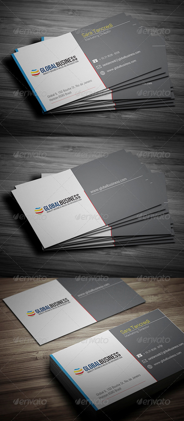 GraphicRiver Corporate Business Card 24 3476251