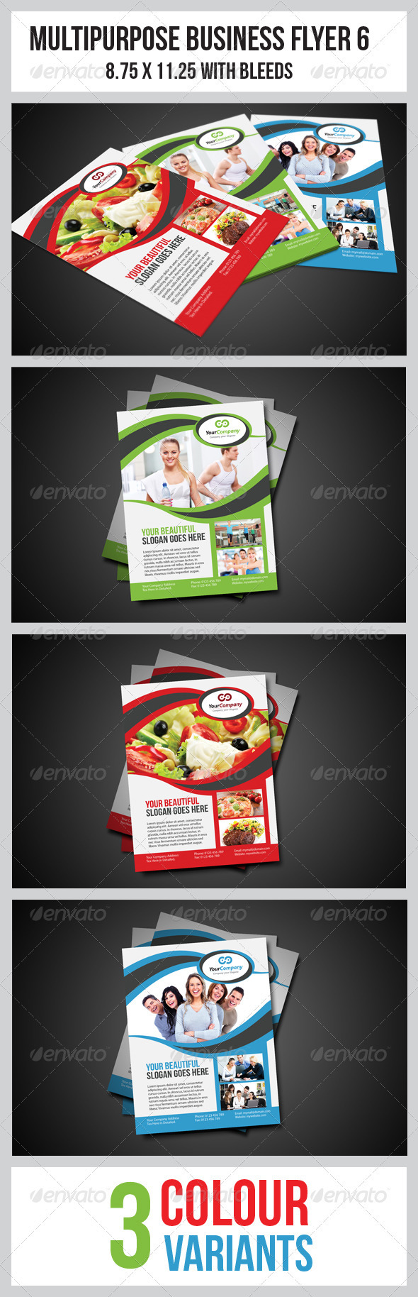GraphicRiver Multipurpose Business Flyer 6 3476282