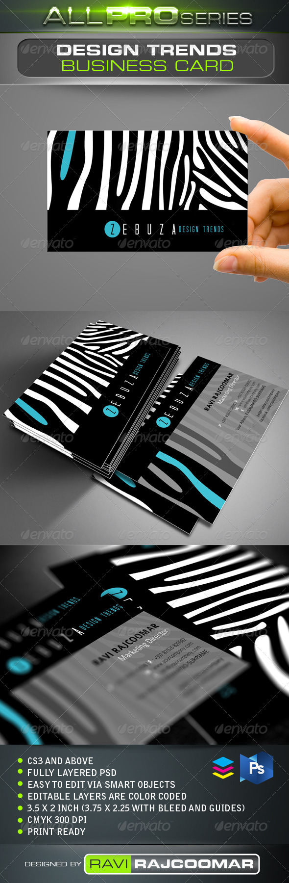 GraphicRiver Design Trends Business Card 3476655