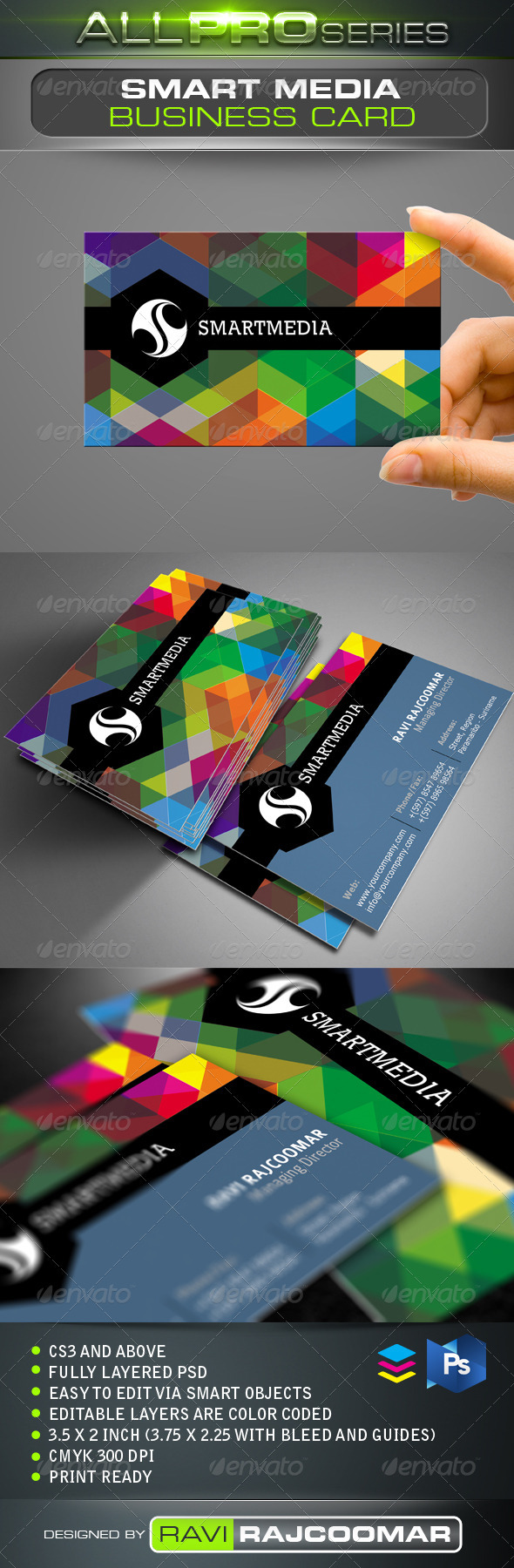 GraphicRiver Smart Media Business Card 3476657