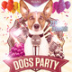 Dogs Party Flyer - GraphicRiver Item for Sale