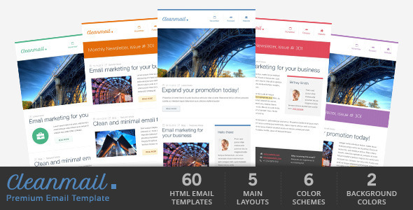 ThemeForest Clean Mail Minimal Email Template Marketing Email Templates Newsletters 3476688