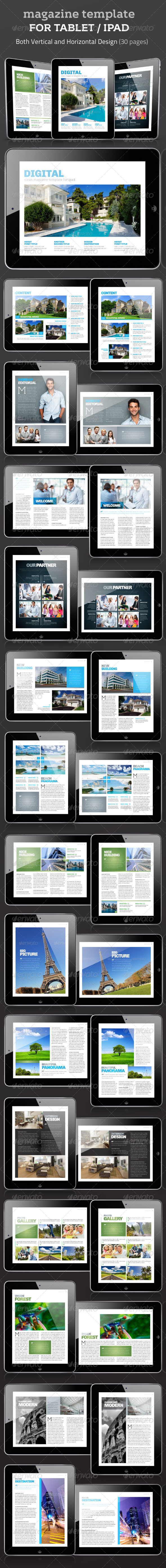 GraphicRiver Magazine Template for Tablet 3393500