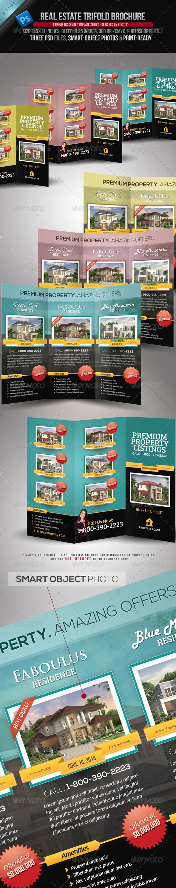 GraphicRiver Real Estate Trifold Brochure 3476995