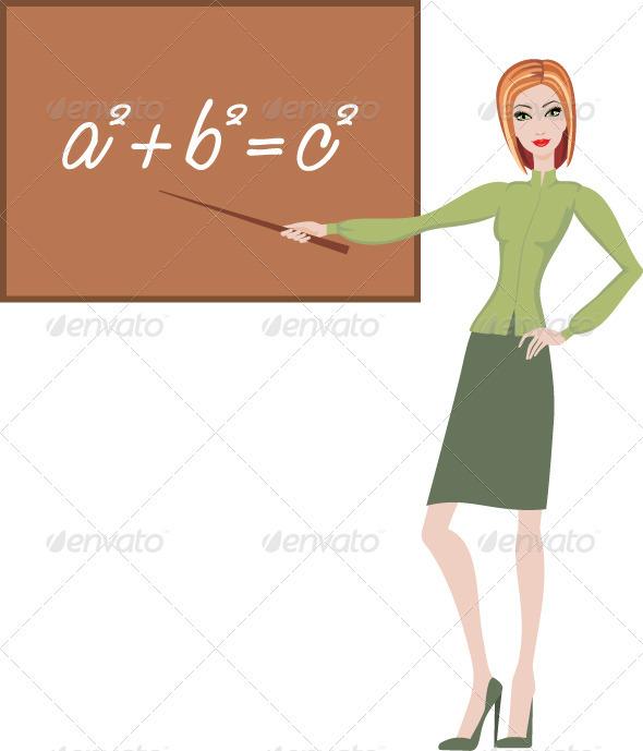 GraphicRiver Teacher explains the theorem 3477389