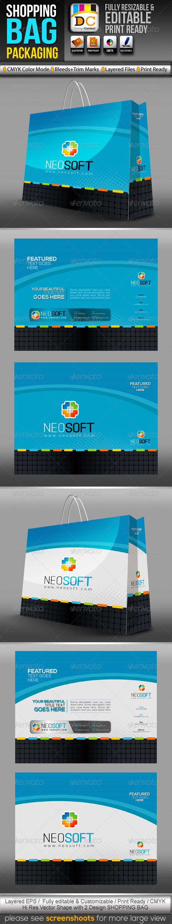 NeoSoft_Shopping Bag Packaging  - Packaging Print Templates