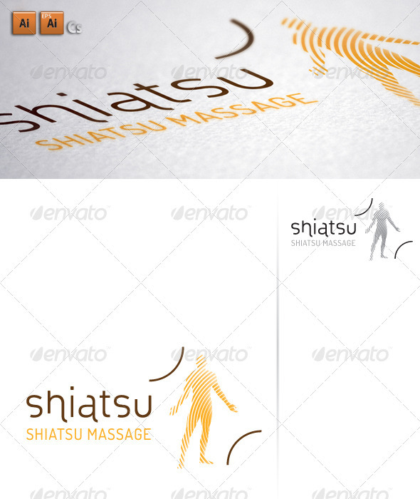 Shiatsu Massage - Body Waves - Humans Logo Templates