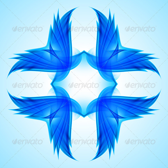 GraphicRiver Abstraction Blue Symbol 3477893