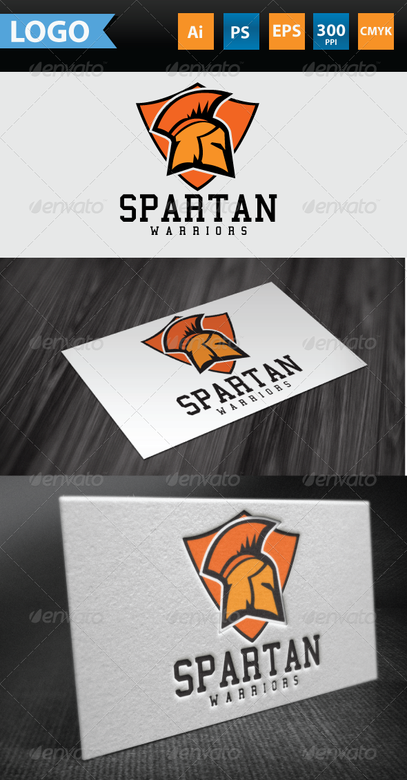 GraphicRiver Spartan Warrior Logo 3477907