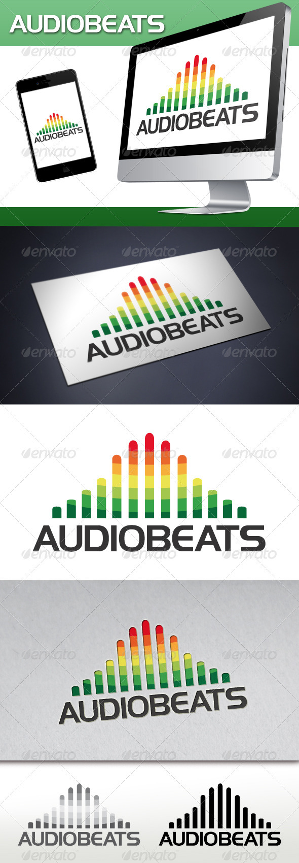 GraphicRiver Audio Beats Logo 3470603