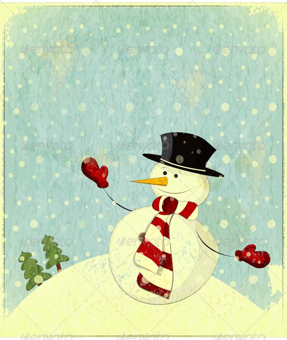 GraphicRiver Snowman 3478002