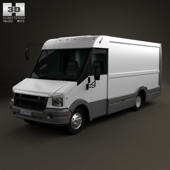 3DOcean Isuzu Reach Van IVC 2011 3478044