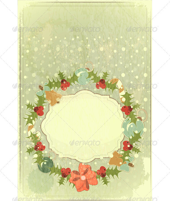 GraphicRiver Old Christmas Postcard 3478214