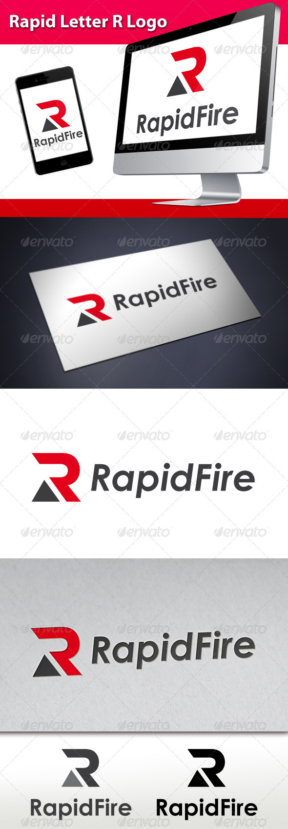GraphicRiver Rapid Letter R Logo 3472855