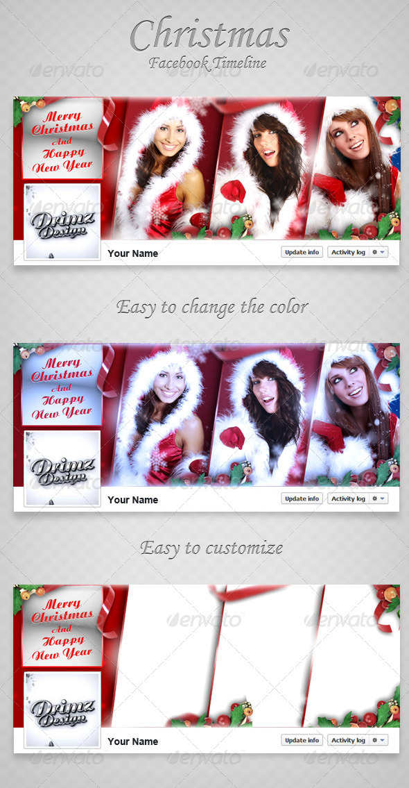 GraphicRiver Christmas FB Timeline V2 3478975