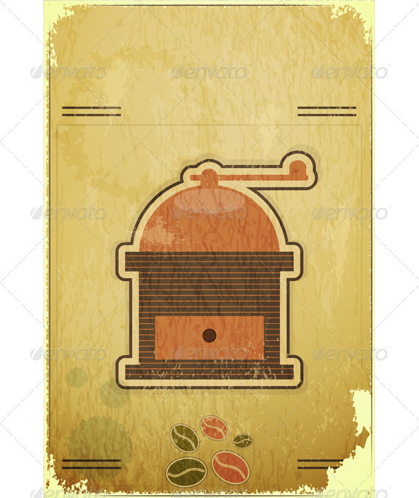 GraphicRiver Retro Coffee Mill 3479198