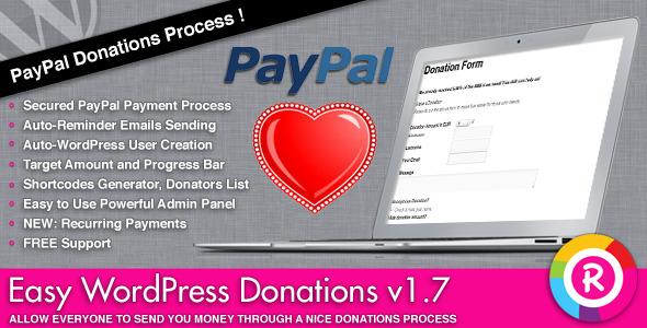 CodeCanyon Easy WordPress Donations 1861818