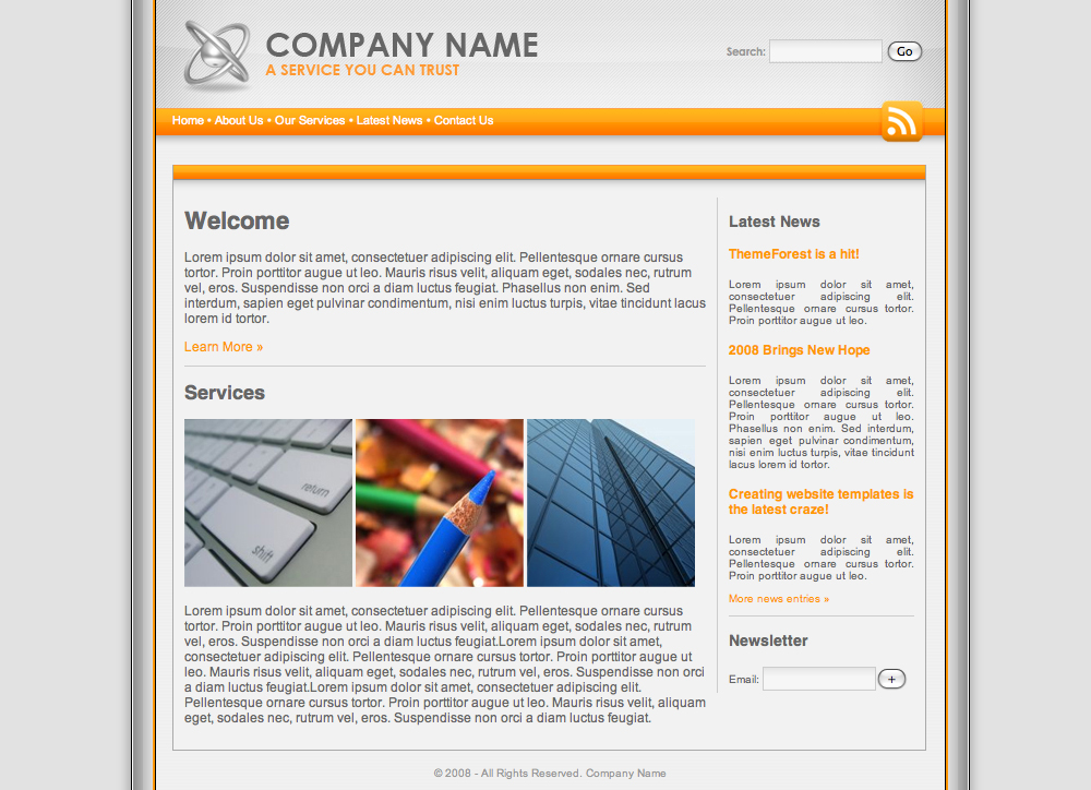 Platinum Orange Professional Template