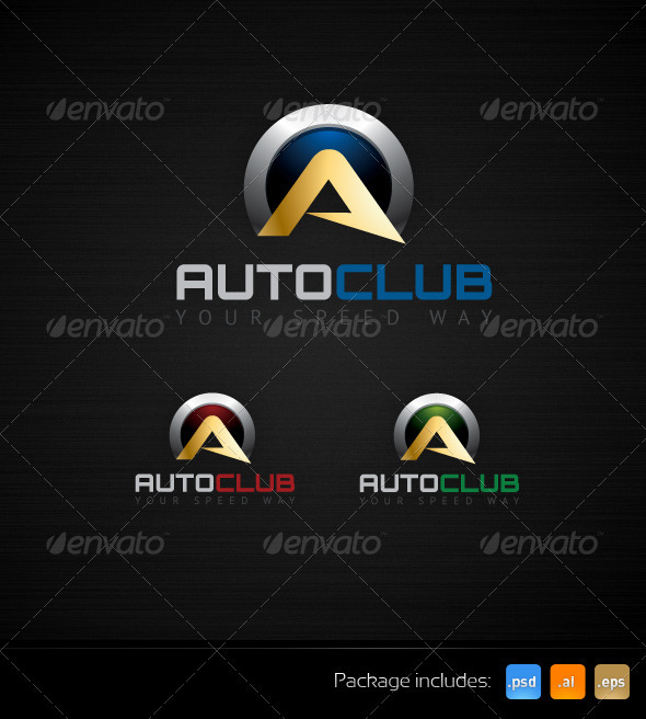 GraphicRiver Auto Club Speed Way Creative Logo Template 3479629