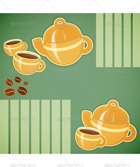 GraphicRiver Coffee Cup and Coffee Pot 3479803