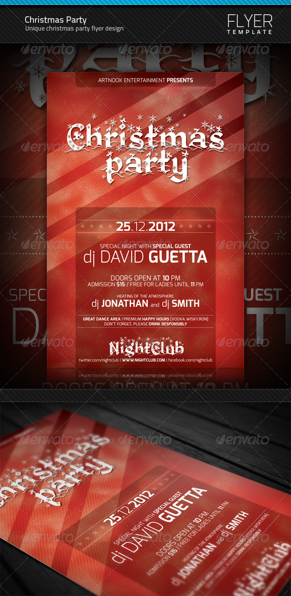 GraphicRiver Christmas Party Flyer 3480130