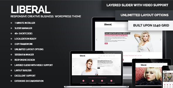 ThemeForest Liberal WordPress Responsive Business Theme 3480221