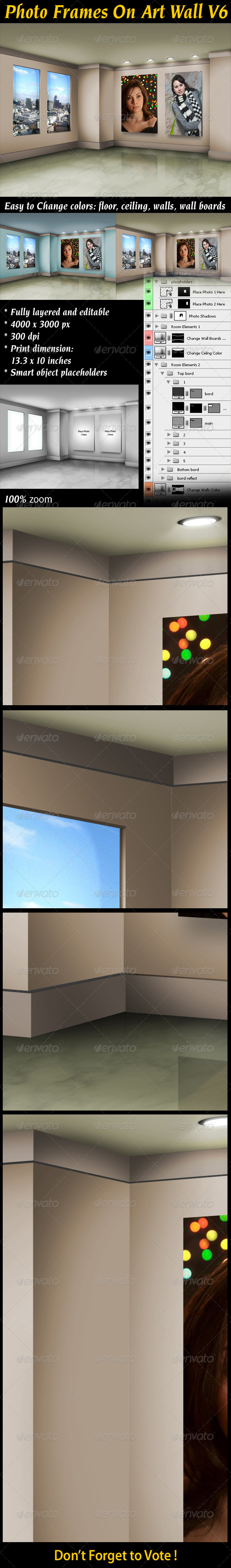 GraphicRiver Photo Frames On Art Wall V6 3480810