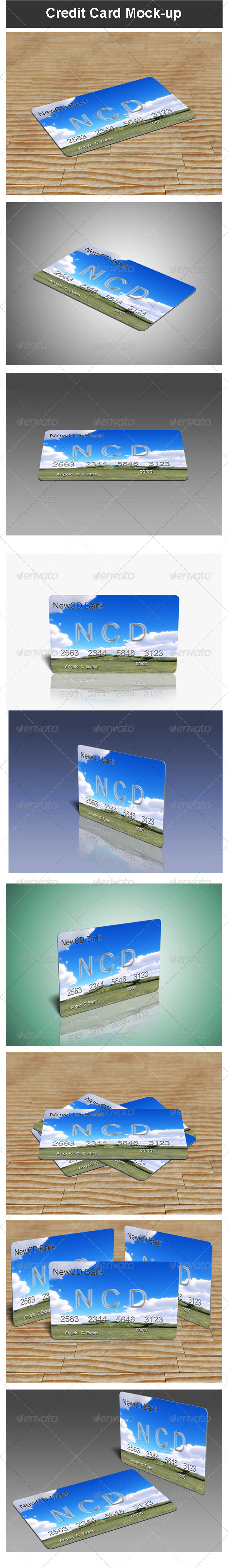 GraphicRiver Credit Card Mock-up 3480831
