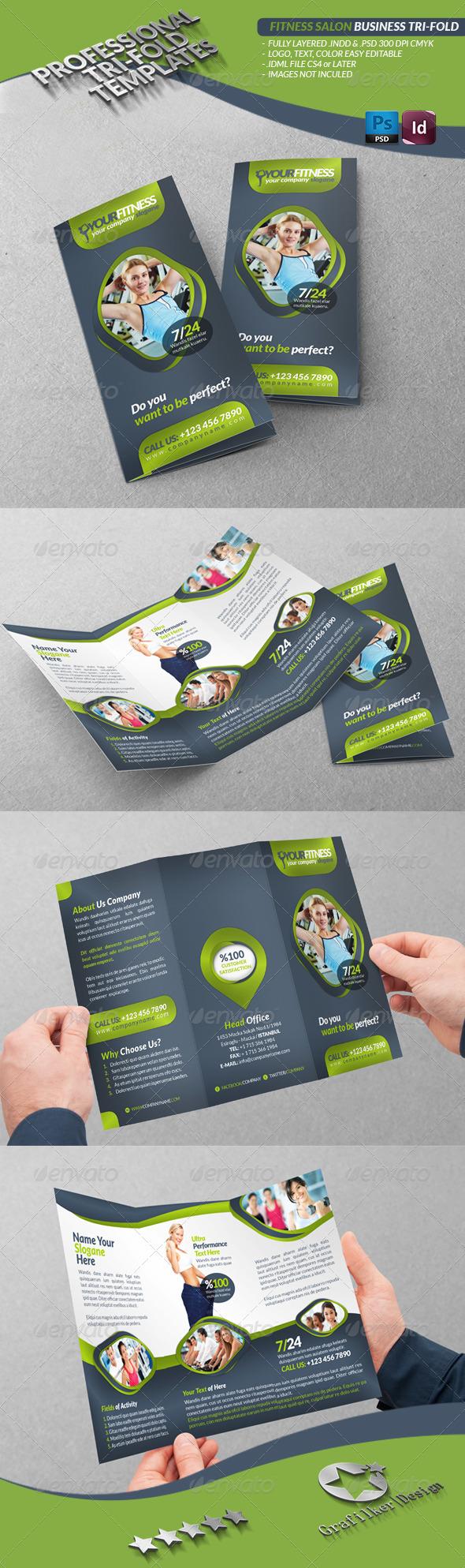 GraphicRiver Fitness Salon Business Tri-Fold 3481146