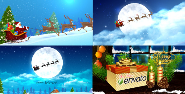 VideoHive Merry Christmas & Santa Claus sleigh 3481335