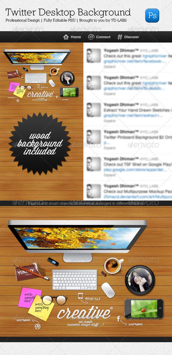 GraphicRiver Twitter Desktop 3482756