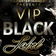 VIP Black Label Flyer - GraphicRiver Item for Sale